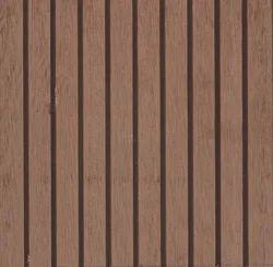 Teak - Big Grooves WPC Decking, Size/Dimension: 2200 x 150 x 25mm