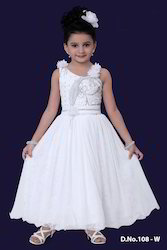 White Frocks For Little Girl