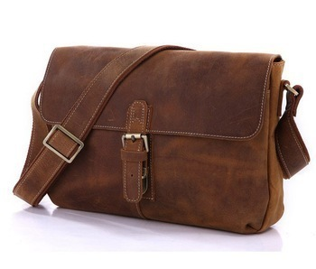 Crazy Horse Leather Messenger Bags