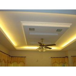 100 Above Decorative Gypsum False Ceiling Services, Thickness: 12.5 mm