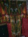 Cotton Satin Bandhej Suit