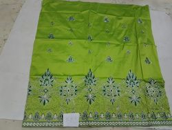 Embroidery Swaali African George Wrapper Polyester Fabric, For Garment Dress Growns