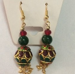 Stone Thread Earrings