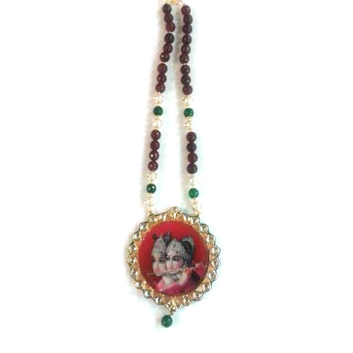 Kundan radha krishna pendant set at rs 1090 piece baapu bazar kundan radha krishna pendant set aloadofball Choice Image