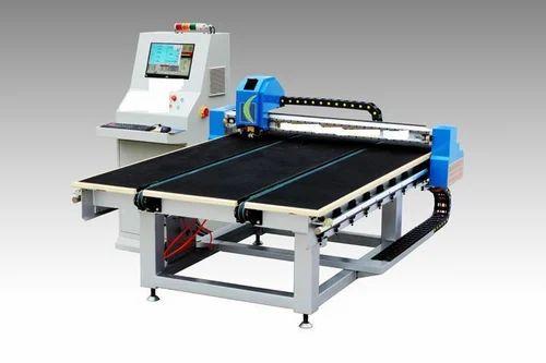 Cnc Glass Cutting Machine कांच की कटिंग मशीन Om Sai