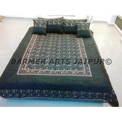 Silk Embroidery Bed Cover Sari Jaal Full