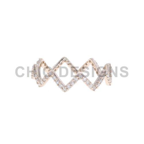 Black Rhodium Diamond Pink Gold Rings Rs 5000 piece Chic