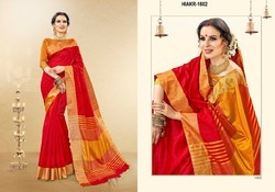 Silk Party Wear Ladies Saree, With Blouse Piece