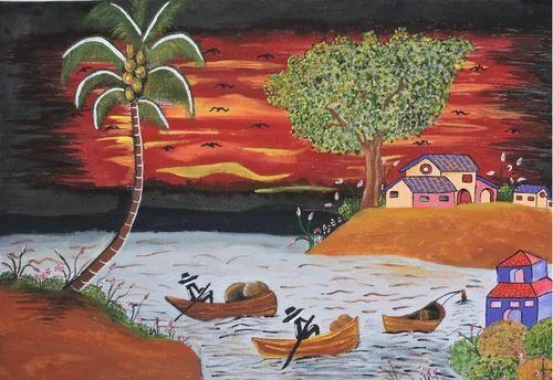 natural canvas painting canvas chitrakari क नव स