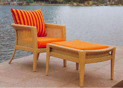 Mesh Style Wicker Day Lounger