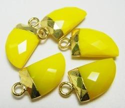 Yellow Chalcedony Petite Horn Shape Pendant