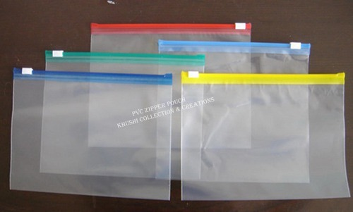 f82577d5fa0 Transparent PVC Pouch With Zipper at Rs 3  piece   पीवीसी का ...