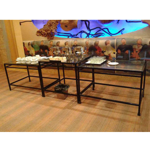 Glass Top Buffet Table