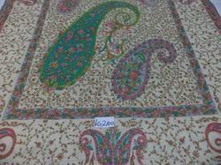 100% Pure Pashmina Hand Printed with Needle Work Shawls