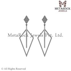 Micro Pave Party Wear Diamond Earring