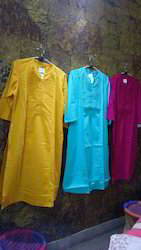 XL Yello, Pink Blue Plain Kurtis For Womens
