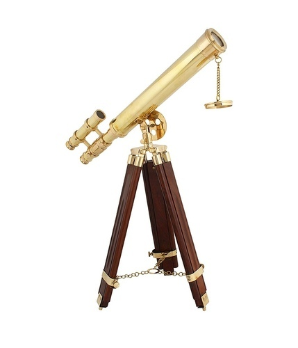 2.0 out of 5 stars  1 Reviews Artshai 16 inch Double Barrel Golden Telescope With Wooden Tripod