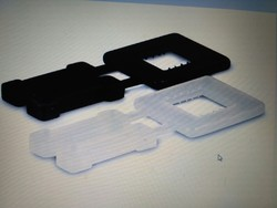 Black Plain Plastic Strap Buckle, Packaging Type: Packet
