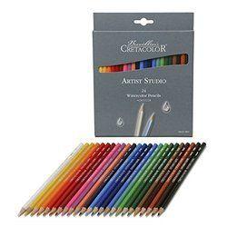 Multicolor Cretacolor Artists Studio Line Watercolor Pencil 24 Shades