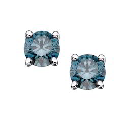 Real Blue Diamond Earring