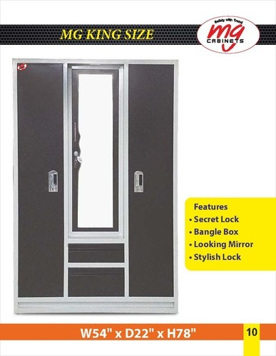Powder Coated Dressing Almirah. Manufacturer of Home Almirah   Wardrobes by Mg Steel Industry