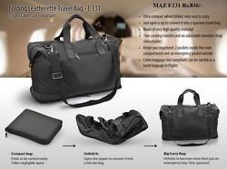 Folding Leatherate Travel Bag