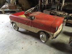 Vintage Rustic Iron Baby Car Toy
