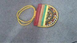 Yellow Handi Craft Hand Bag Kutch Bhuj