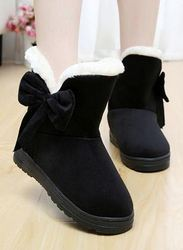 Womens Black Color Snow Boots