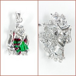 925 Silver Radhe Khrishna Pendants