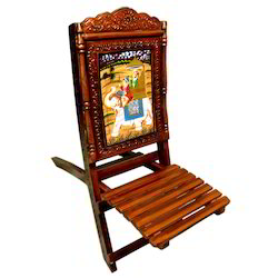 Wooden Painted Folding Chair