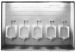 White Gents Bathroom Urinals