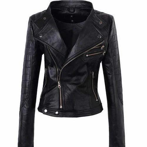 47f240871745 Black Leather Ladies Jacket at Rs 3500 /piece | Dharavi | Mumbai ...