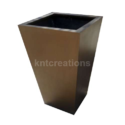 Metallic Brown Vertical Slate Planter Pot