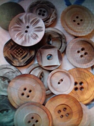 Natural Coconut Shell Buttons