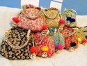 Embroidered Party Wear Potli Bag