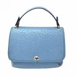 皮革朴素的天蓝色女士包