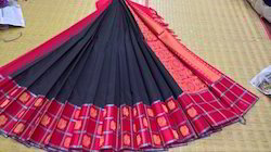 Handloom Cotton Saree, 6.3 M (with Blouse Piece)