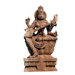 Wooden Saraswathi KA Statues