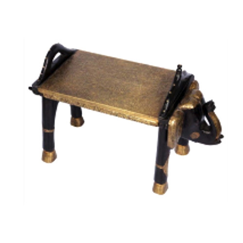Vintage Wooden Elephant Bench