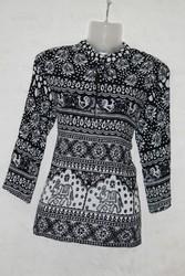 Rajasthani Black & White Ladies Top