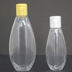 Plastic Transparent Pet Oval Bottle, Capacity: 200ml