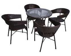 Casual Style Wicker Outdoor Coffee Set