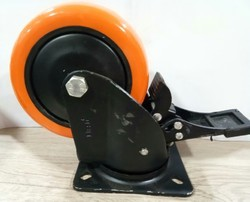 6 Inches Orange PU Caster Wheel
