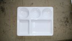 Acrylic Five Compartment Plate