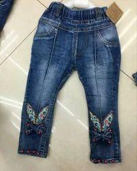 Import 2 Colour Kids Girls Jeans