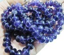 Amethyst Roundel Faceted Beads 10 Mm