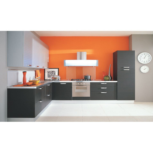L Shaped Modular Kitchen For Home, Rs 1200 /square Feet