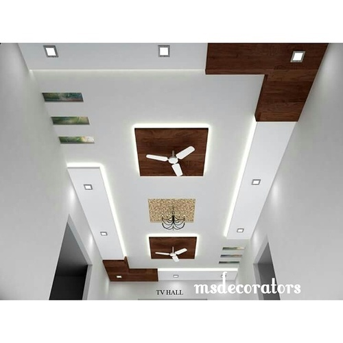 Hall Interior Design India: Gypsum Ceiling Works In Saiyed Vasna, Vadodara