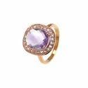 Amethyst Pave Set Gemstone Ring